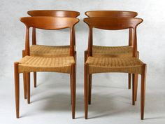 4 Dining Chairs by Arne Hovmand Olsen, for Mogens Kold, Denmark Teak Stuhl 60er 60s. €745.00, via Etsy.