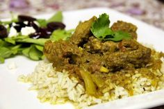 Traditional South African Lamb Curry