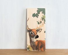 Paint by Number Art Block 'Buck'  deer stag by StudioLiscious, $22.00