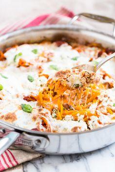 Skillet Lasagna with Butternut Noodles | Get Inspired Everyday!