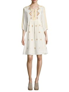 Antik Batik Sharlen Embroidered Cotton Dress