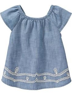 Flutter-Sleeve Chambray Tops for Baby | Old Navy
