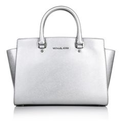Perfect Business Bag - Michael Kors Selma LG TZ Satchel Silver by Fashionette