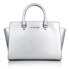 Perfect Business Bag - Michael Kors Selma LG TZ Satchel Silver by Fashionette