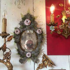 #pucesdesaintouen Venetian Mirrors, Mercury Glass, Grapevine Wreath, Old And New, Grape Vines, Wreaths, Fall, Inspiration, Instagram