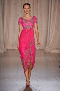 India inspired collection by Marchesa for S/S '13 <3 this fuschia
