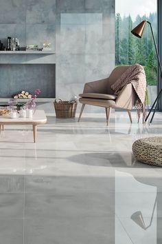Grey Living Room Tiles Courtesy of Tessa NeustadtLeisure/Rumpus Designs & Ideas in 10 Grey Floor Tiles, Wallpaper Living Room, Living Room Flooring, Room Tiles, Living Room Tiles, Living Room Grey, Room Flooring, Tile Floor Living Room, Grey Flooring