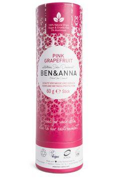 Ben & Anna Natural Soda Deo – Pink Grapefruit X Vegan Deodorant, Natural Deodorant, Diy Shampoo, Solid Shampoo, Tienda Natural, Activated Charcoal Teeth Whitening, The Heat, Anna, Pink Grapefruit