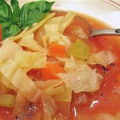 "Healing Cabbage Soup | ""Comfort food on a cold winter's night, cabbage simmered in chicken broth is also an age-old folk remedy for curing the common cold."""