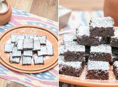 Mexican Chocolate Brownies - Sugar and Charm Chocolate Cookie Recipes, Chocolate Pies, Chocolate Brownies, Yummy Treats, Delicious Desserts, Divine Chocolate, Mexican Chocolate, Cookie Brownie Bars, Cocoa Cinnamon