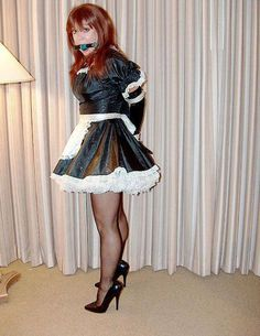 Looks like another sissy maid whose mouth has got the better of him - a personal fault that Milady frequently has cause to comment on. Transgender, French Maid Dress, Sissy Boy, Sissy Maids, Maid Uniform, Pantyhose Outfits, Maid Outfit, Le Jolie, Great Legs