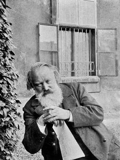 German composer and virtuoso pianist Johannes Brahms (1833-1897), 1896.