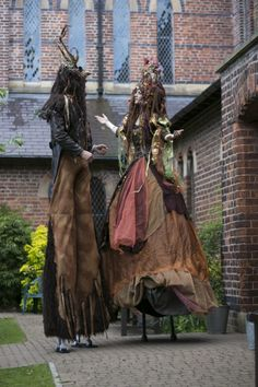 Titania and Oberon on stilts  www.makeevents.co.uk