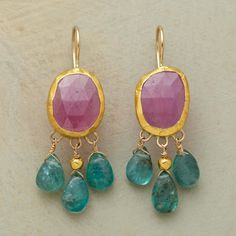 Raining Rubies Earrings by Nava Zahavi