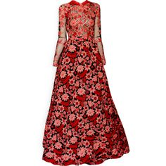 edited by Satinee - Valentino Haute Couture 2013 ❤ liked on Polyvore featuring dresses, gowns, satinee, edited, red evening gowns, couture dresses, couture ball gowns, red dress and red gown