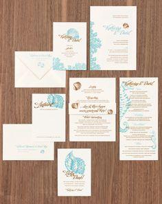 Seepferdchen und Muscheln    - Papeterieserien der weddingstyle Konzepte