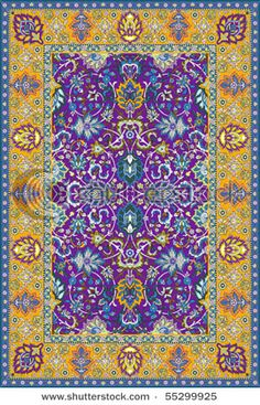 Beautiful Persian Rug Amazing Purple And Yellows