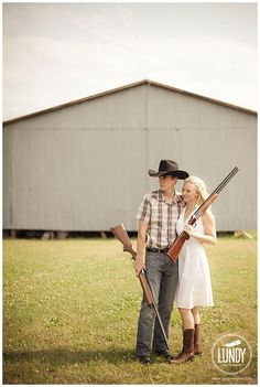rifles this would be a great country wedding photo