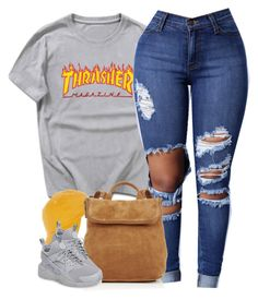 """1 3 7 6 • Thrasher"" by cheerstostyle ❤ liked on Polyvore featuring Topshop, Whistles and NIKE"