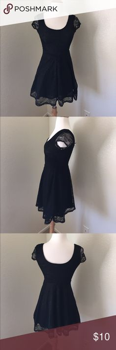 (A11) Black Lace Dress ♡Brand: H&M/Divided  ♡Size: 4 ♡Fits like: 4 ♡Condition: Very good, some very light runs in the lining but not visible when worn.   ☁︎Please ask all questions! ☁︎Measurements and modeling available.  ☁︎Smoke free, pet friendly home.  ☁︎Reasonable offers accepted through the offer button.  ☁︎Ask about my custom bundle deals! ☁︎No trades! H&M Dresses Mini