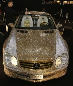 Gold Swarovski-encrusted Mercedes SL600 - 300,000 crystals