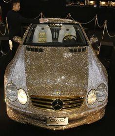 Gold Swarovski-encrusted Mercedes SL600 - 300,000 crystals