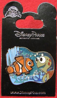 Disney NEMO & SQUIRT - FINDING NEMO New on Card Character Trading Pin