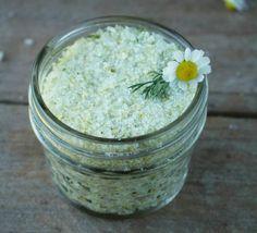 heřmánková sůl Kraut, Herbs, Homemade, Masky, Apollo, Food, Home Made, Essen, Herb