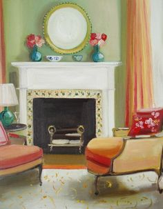 """""""Midday At Clara's House"""" by Janet Hill"""