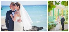 green and yellow old house background for destination wedding in the Cayman Islands
