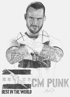 CM Punk 2012 by Lucas-21 on deviantART ~ WWE ~ traditional pencil art
