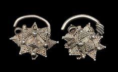 Viking Silver Earrings, 8th-10th Century