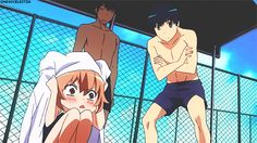 XD My favorite parts in Toradora are the pool ones