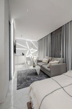 FAP Roma Diamond Caleido on the floor of room called Jää/Ice. Carrara, Hotels, Ice, Flooring, Boutique, Lighting, Diamond, Room, Bedroom