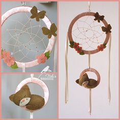 Dreamcatcher for kids with a kitty room decor  by NikisBirdhouse, $23.00