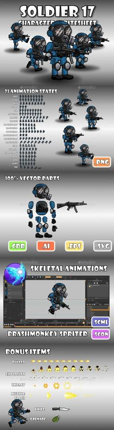 Soldier Character 17 (Sprites)