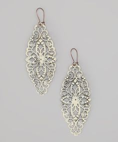 Take a look at this Cream Eiffel Tower Earrings by dAffadowndily on #zulily today!