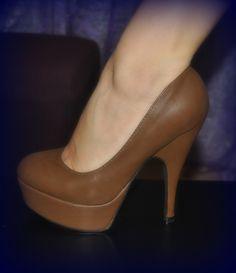 milk chocolate high-heel