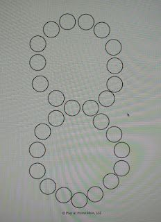 Letter/Number Templates - Use Dot markers (BINGO MARKERS) to let the kids touch each circle.