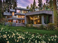 LHM Lake Tahoe - Luxury living on 8.1 acres. Property includes:  main house, guest house, conference center and  pier with sandy beach front.