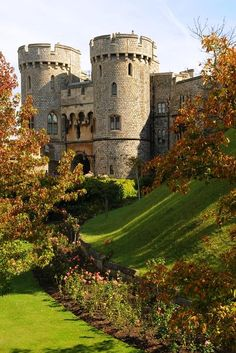 The moat and gate at Windsor Castle, Berkshire, UK