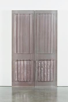 Rachel Whiteread - Untitled (Curtains) 2015. Resin and cement compound 198x117x16cm