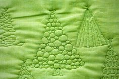 Decorating Christmas Trees – With Free Motion Quilting | The Inbox Jaunt