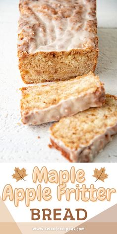 Maple Dessert Recipes, Maple Syrup Recipes, Apple Recipes, Baking Recipes, Bread Recipes, Desserts, Fall Baking, Holiday Baking, Postres