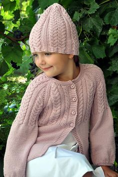 Ravelry: Hermione cardigan pattern by Pelykh Natalie Aran Knitting Patterns, Baby Sweater Knitting Pattern, Cardigan Pattern, Knitting Stitches, Crochet Patterns, Girls Sweaters, Baby Sweaters, Knitting For Kids, Baby Knitting