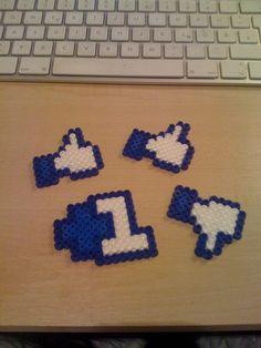 Facebook hama perler bead Icons von minus78.de