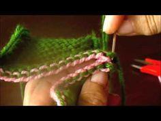 ▶ Dos agujas: remallado en punto jersey - YouTube