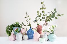 Pastel, Scandi coloured vases in various shapes and sizes. A beautiful way to display plants and flowers in the home. More at http://www.redonline.co.uk