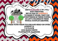 House Divided Couple's Shower Invite: ALABAMA & by JKandElle