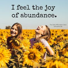 Photo by beholdher.life | blog on August 28, 2020. I feel the joy of abundance. The Daily Affirmation Deck Old Adage, Broken Promises, Mind Body Spirit, Spiritual Health, Daily Affirmations, Powerful Words, Words Of Encouragement, Best Self, Self Care